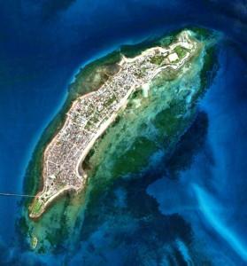 Ilha de Moçambique vista do espaço