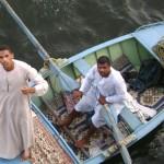 Momentos de uma viagem ao longo do Rio Nilo no Egipto