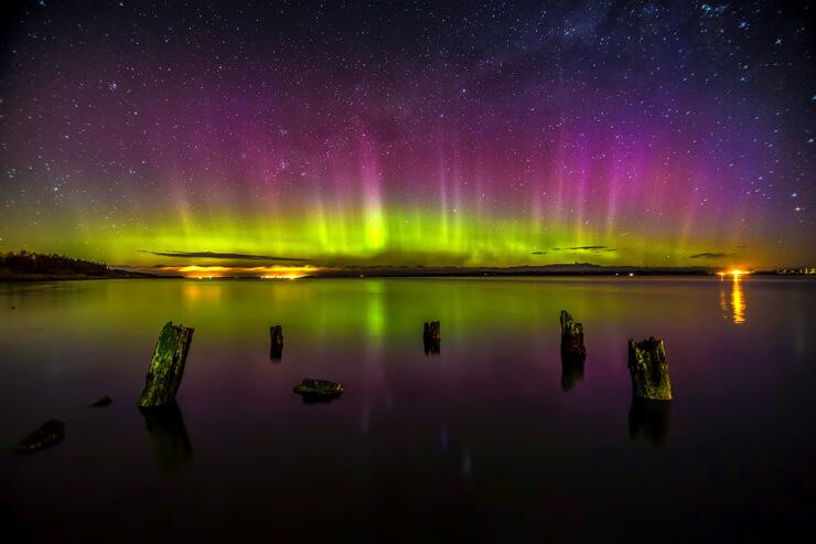 aurora-boreal-lago