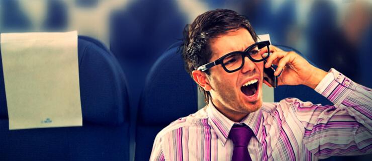 telemóveis no avião